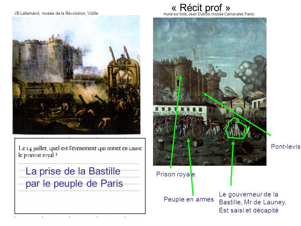 La prise de la Bastille par le peuple de Paris
