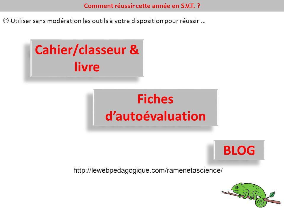 Cahier/classeur & livre Fiches d'autoévaluation BLOG