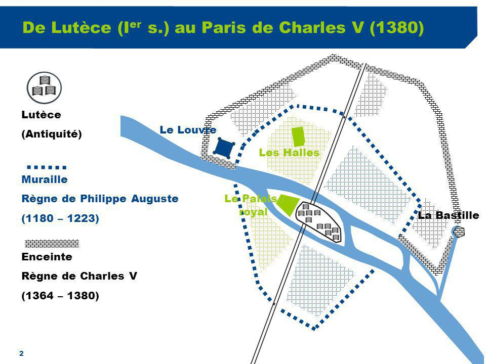 De Lutèce (Ier s.) au Paris de Charles V (1380)
