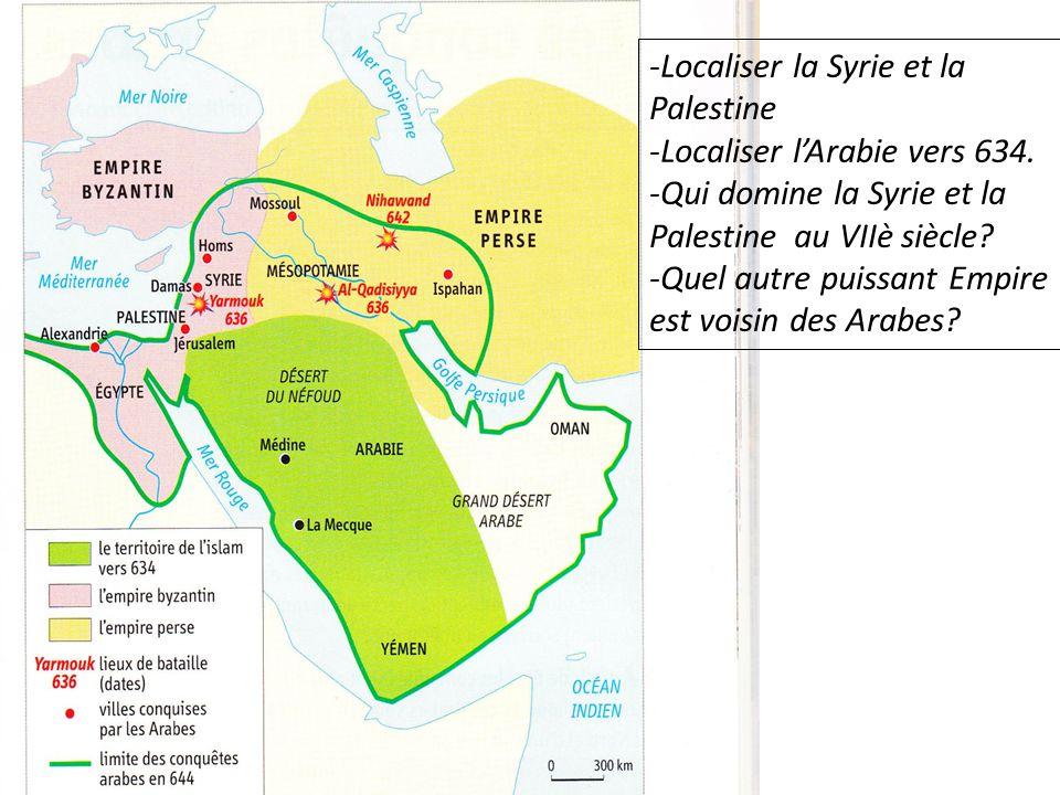 -Localiser la Syrie et la Palestine