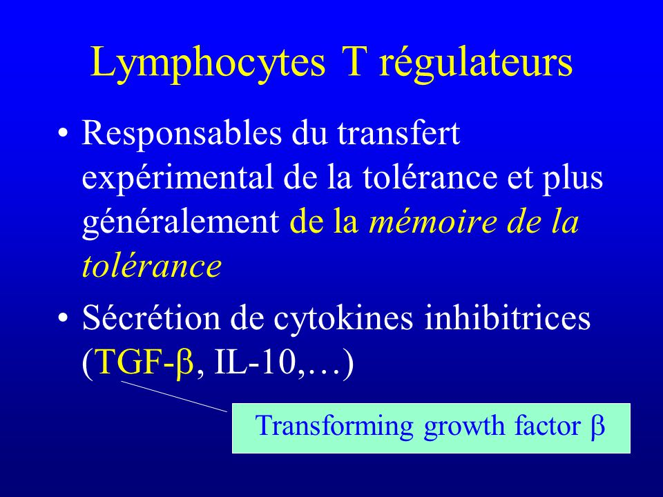 Lymphocytes T régulateurs