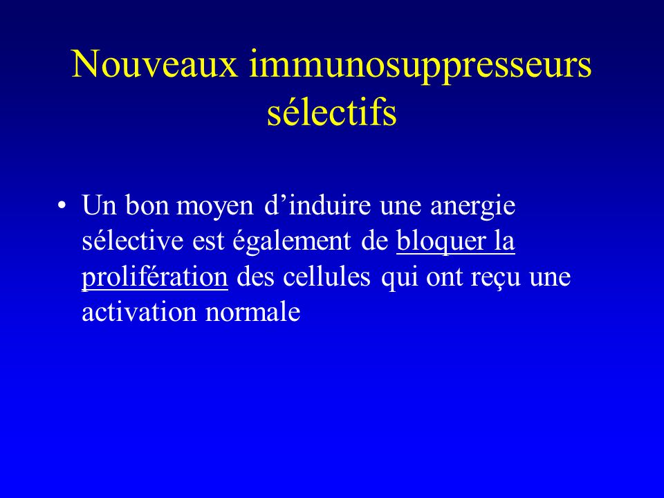 Nouveaux immunosuppresseurs sélectifs