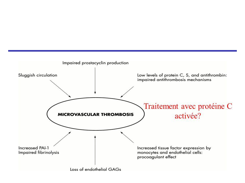 Traitement avec protéine C activée