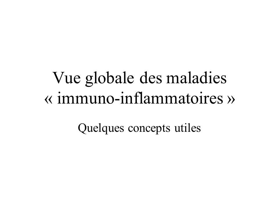 Vue globale des maladies « immuno-inflammatoires »