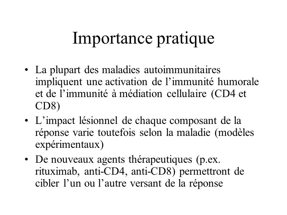 Importance pratique
