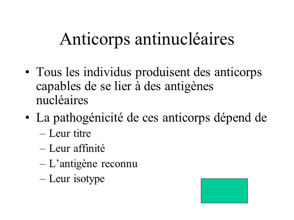 Anticorps antinucléaires