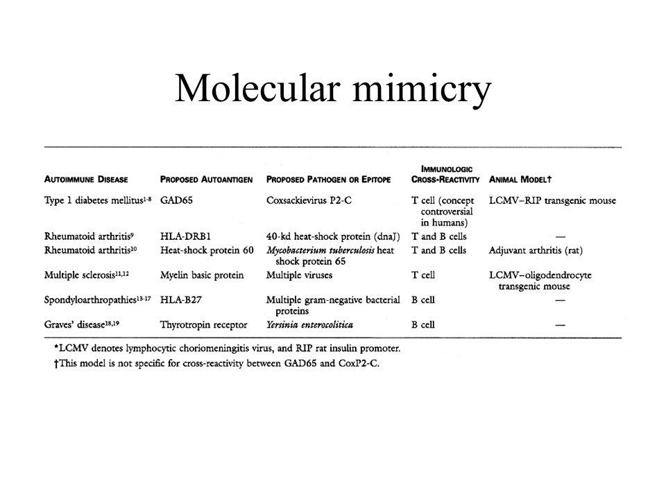 Molecular mimicry