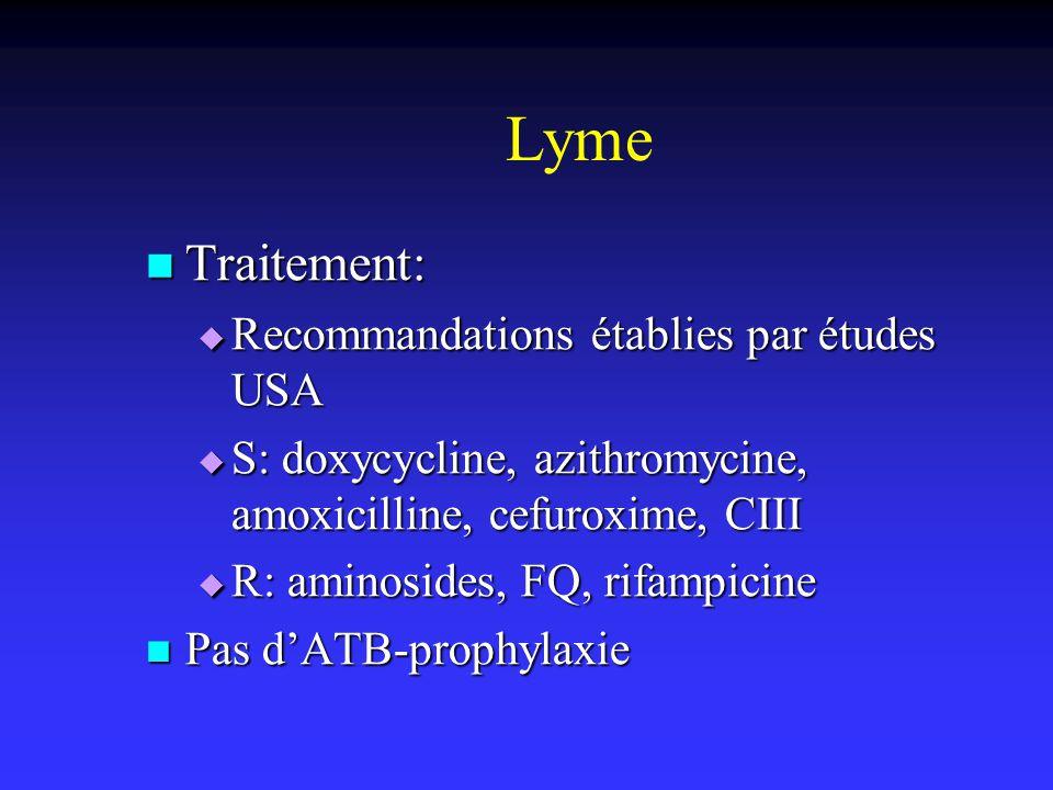 Lyme Traitement: Recommandations établies par études USA