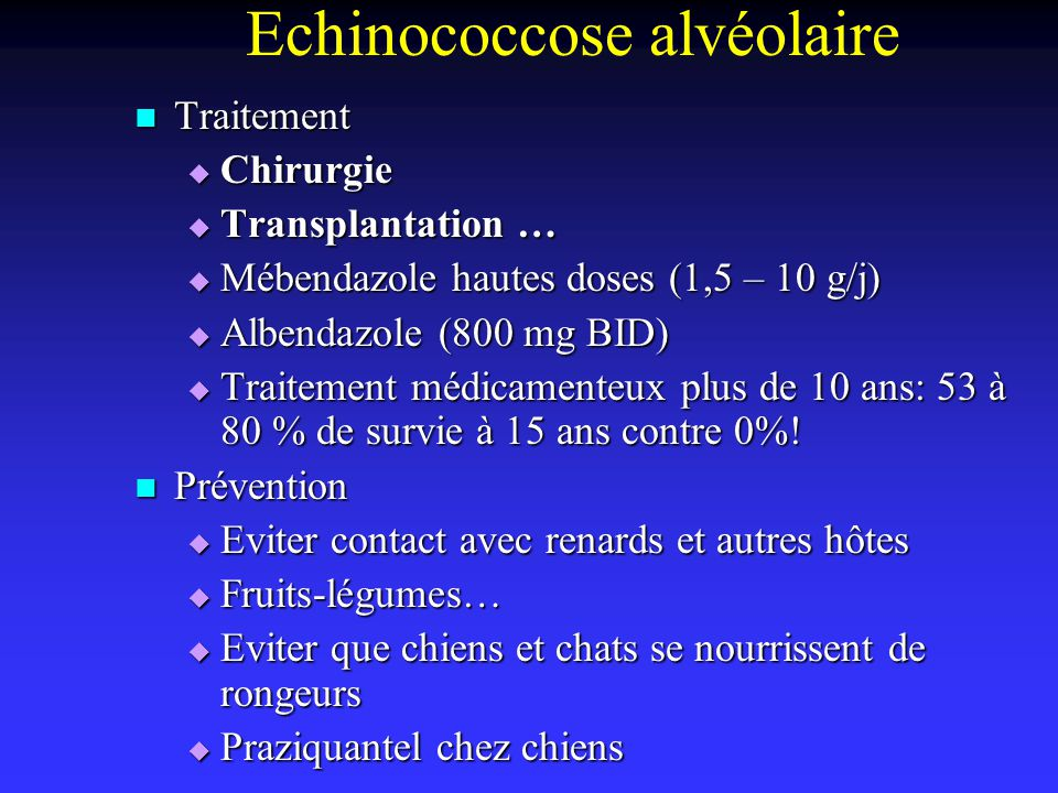 Echinococcose alvéolaire