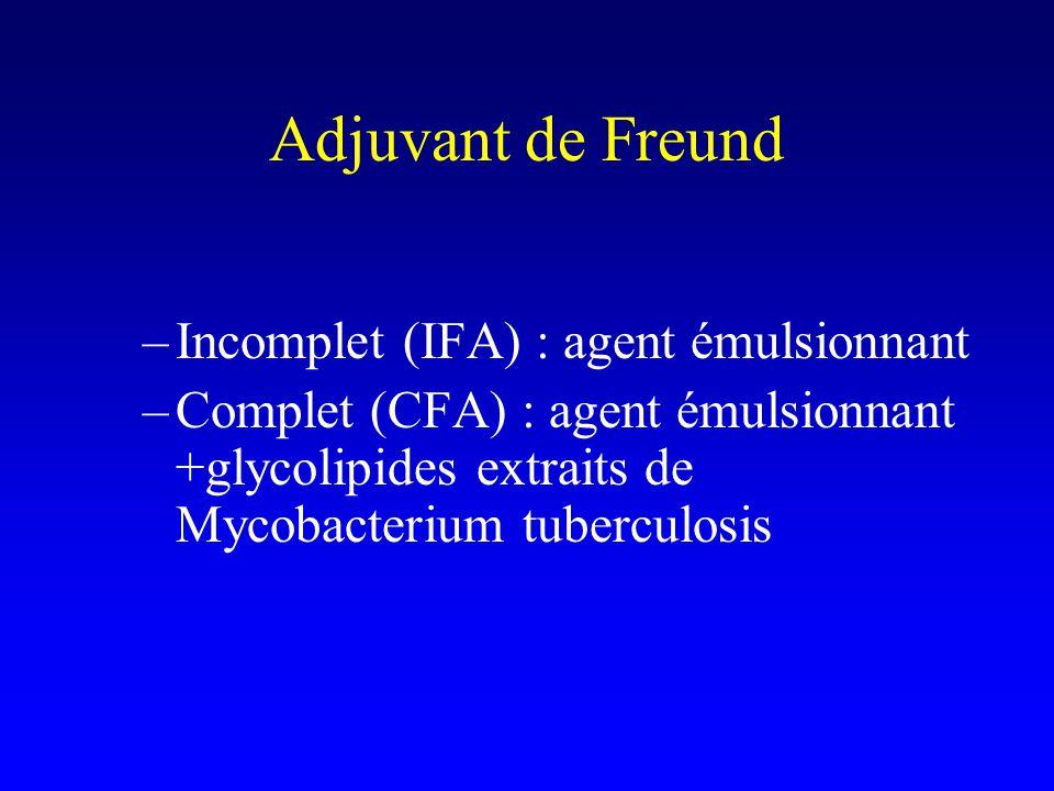Adjuvant de Freund Incomplet (IFA) : agent émulsionnant