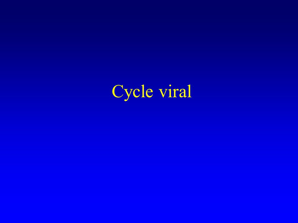 Cycle viral