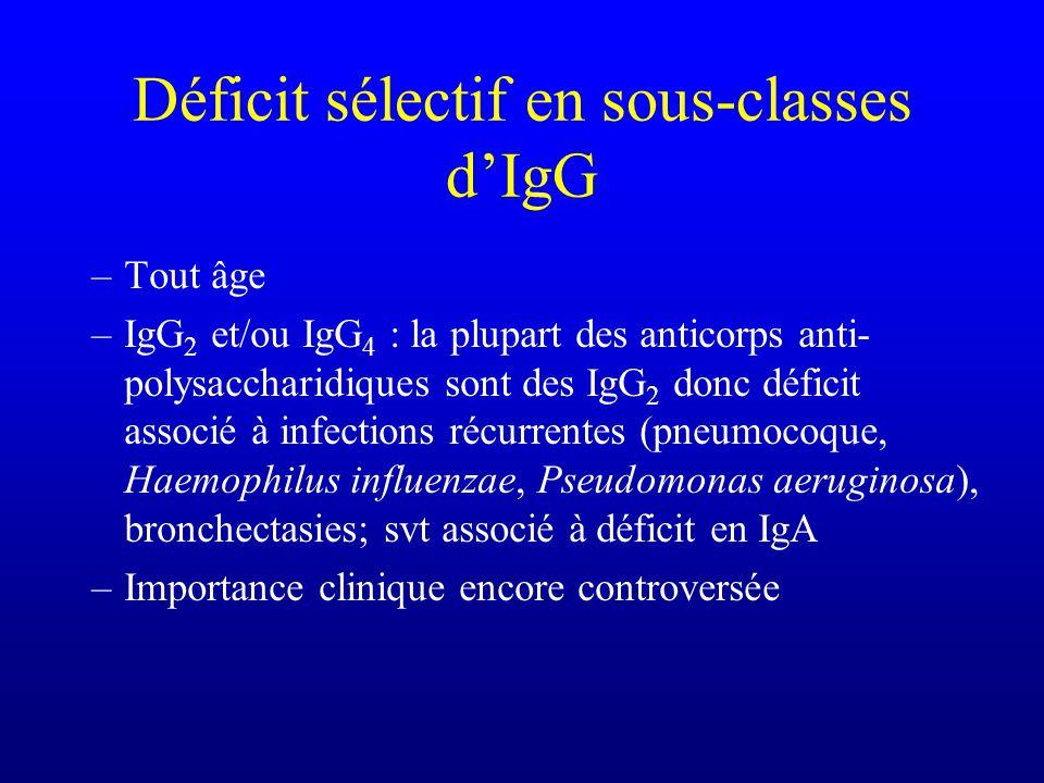 Déficit sélectif en sous-classes d'IgG