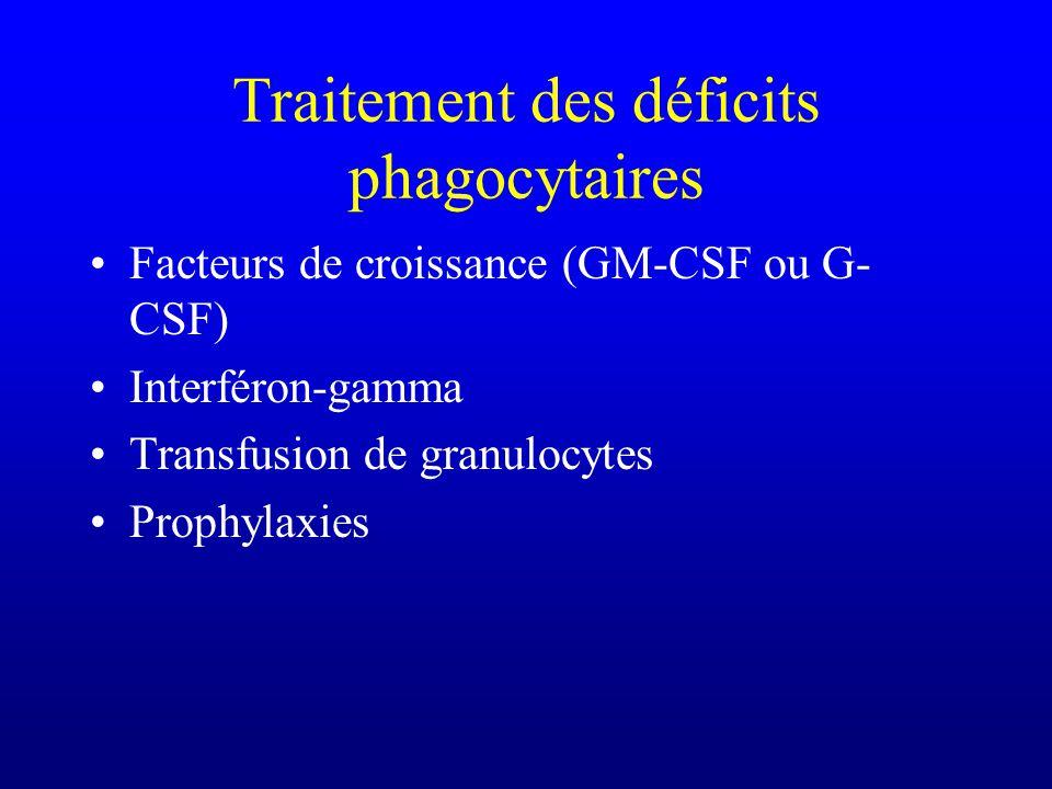 Traitement des déficits phagocytaires