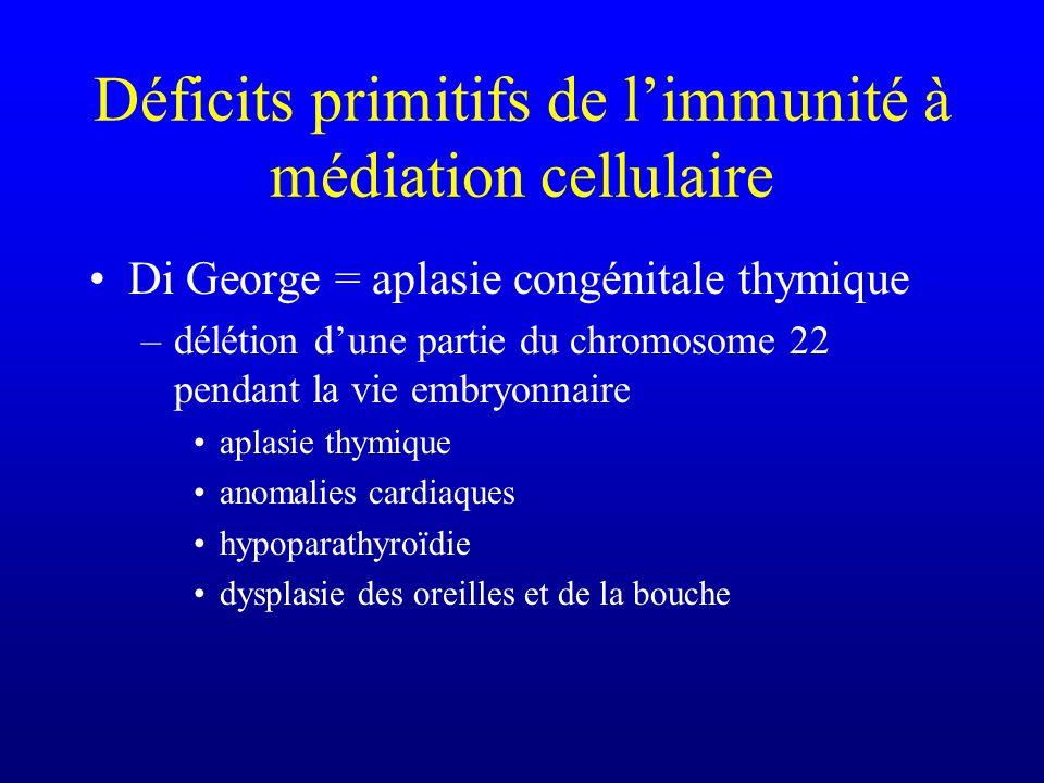 Déficits primitifs de l'immunité à médiation cellulaire