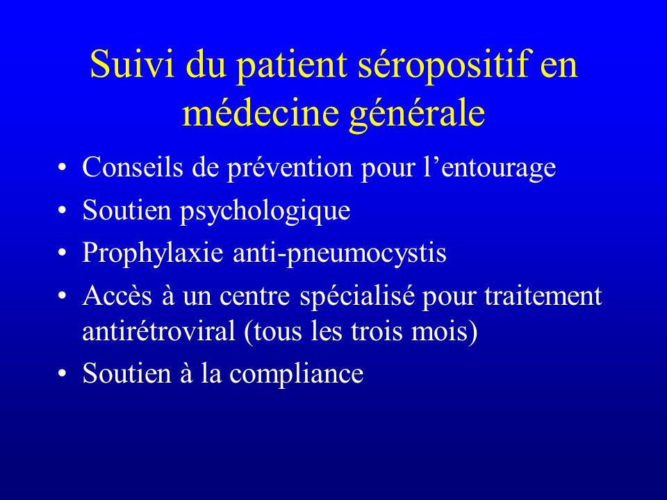 Suivi du patient séropositif en médecine générale