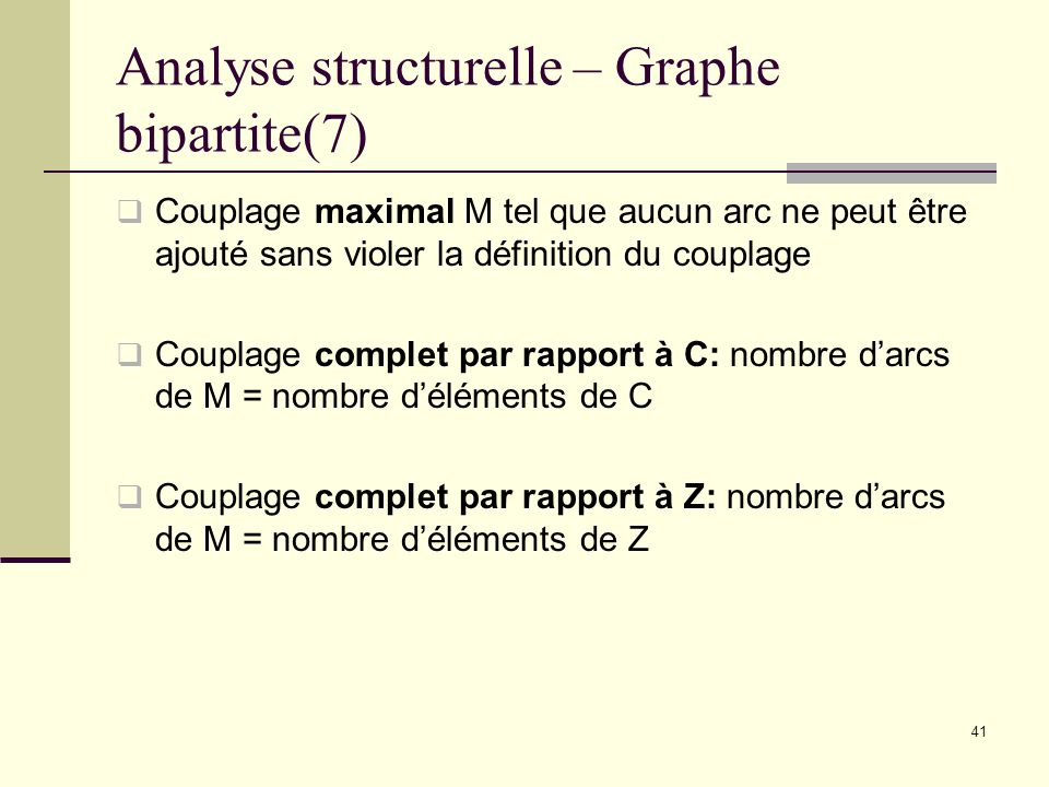 Analyse structurelle – Graphe bipartite(7)