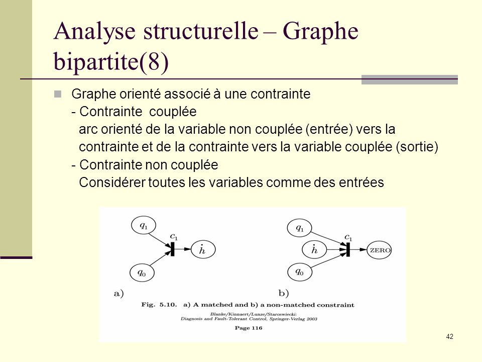 Analyse structurelle – Graphe bipartite(8)
