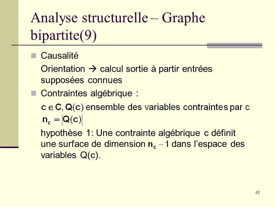 Analyse structurelle – Graphe bipartite(9)