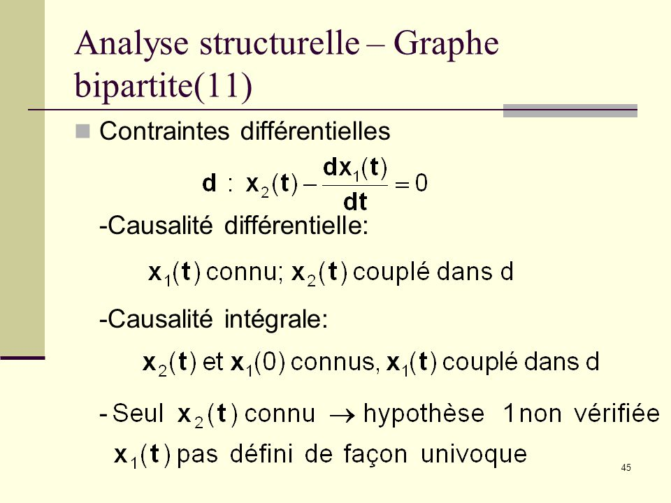 Analyse structurelle – Graphe bipartite(11)