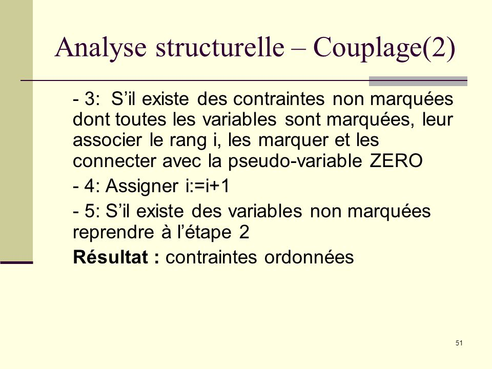 Analyse structurelle – Couplage(2)