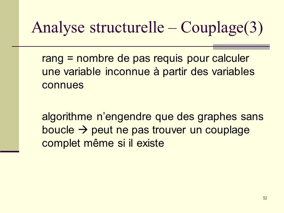Analyse structurelle – Couplage(3)
