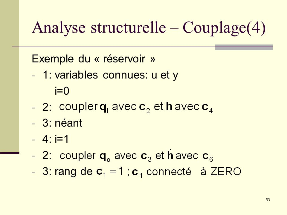 Analyse structurelle – Couplage(4)