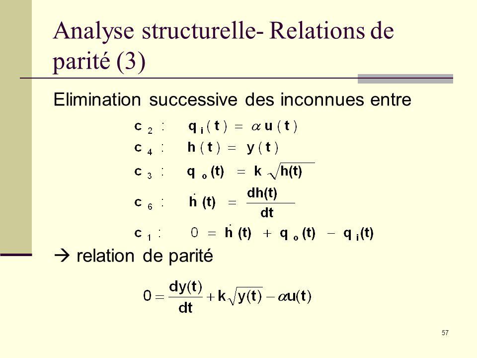 Analyse structurelle- Relations de parité (3)
