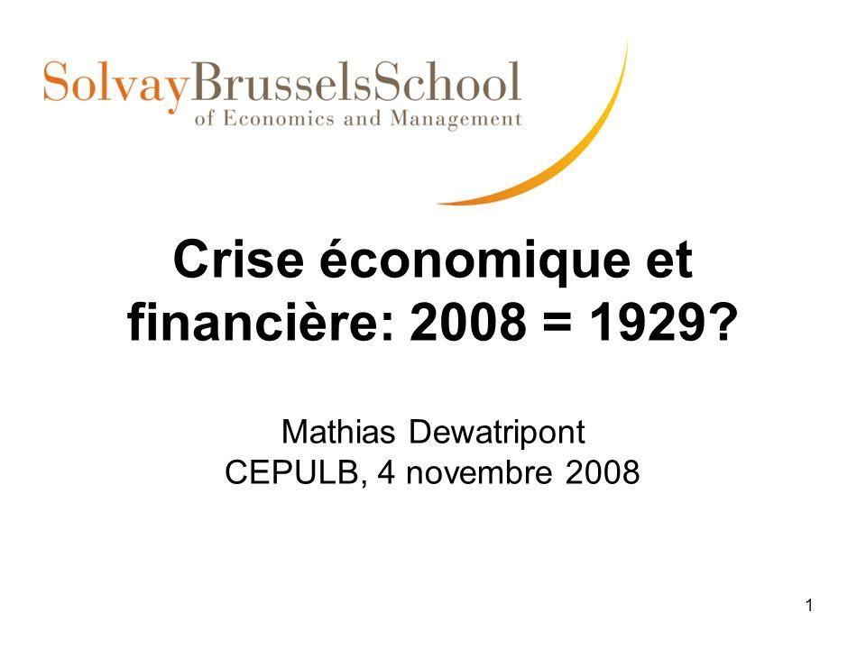 Crise économique et financière: 2008 = 1929