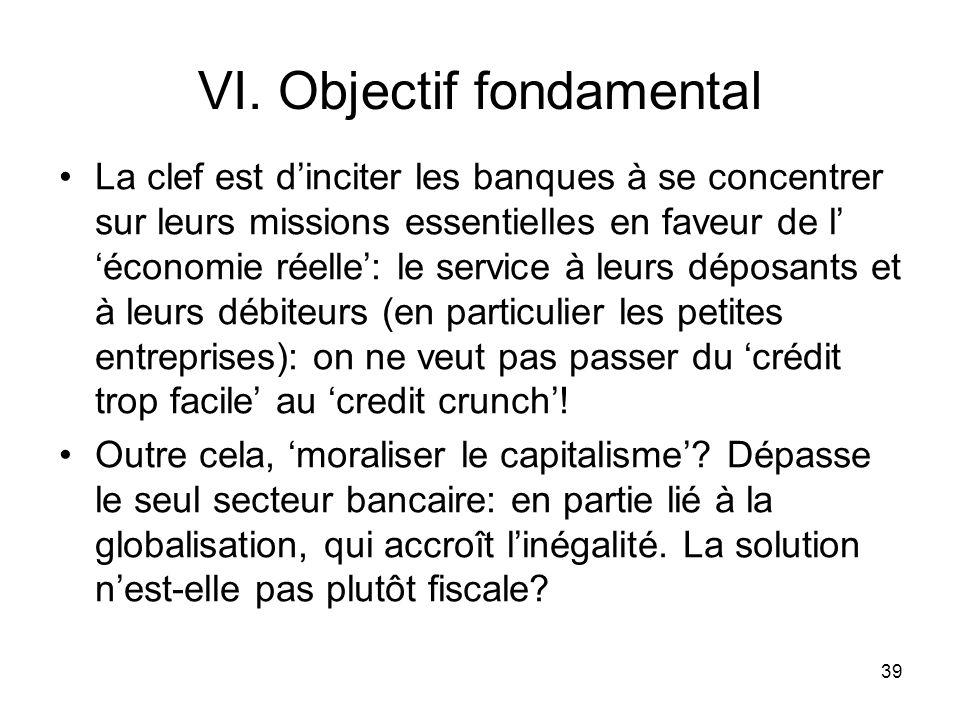 VI. Objectif fondamental