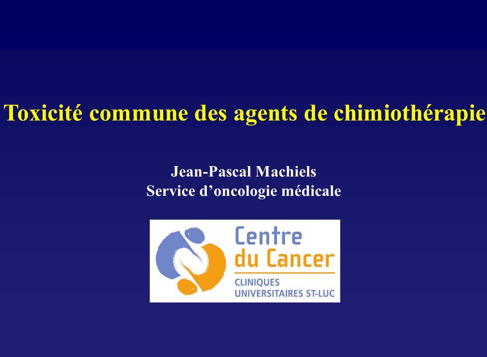 Toxicité commune des agents de chimiothérapie