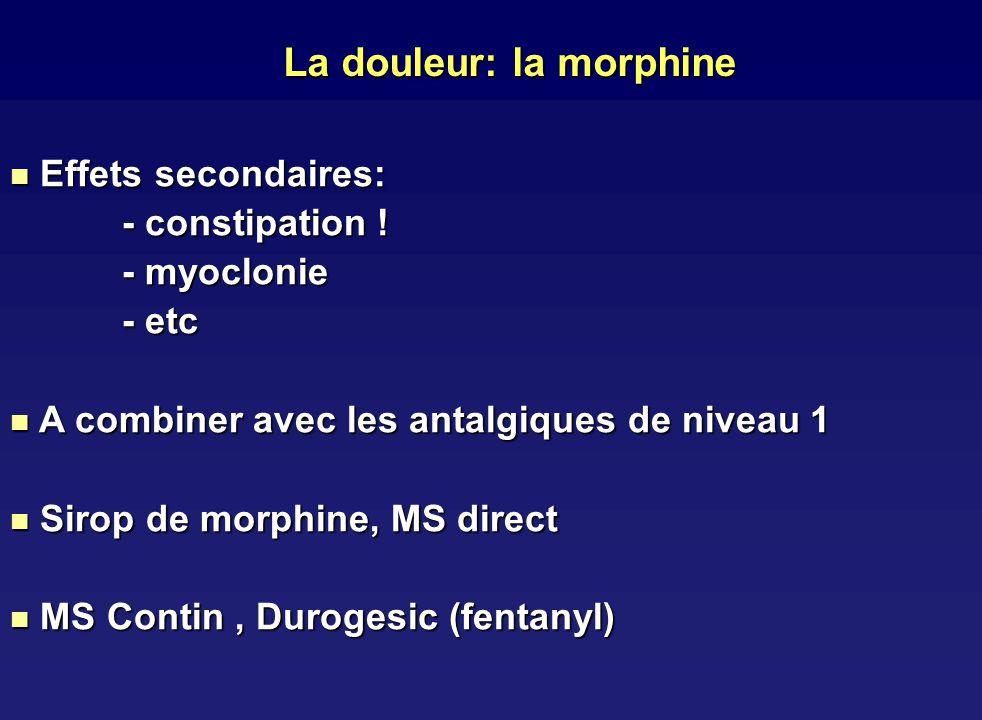 La douleur: la morphine
