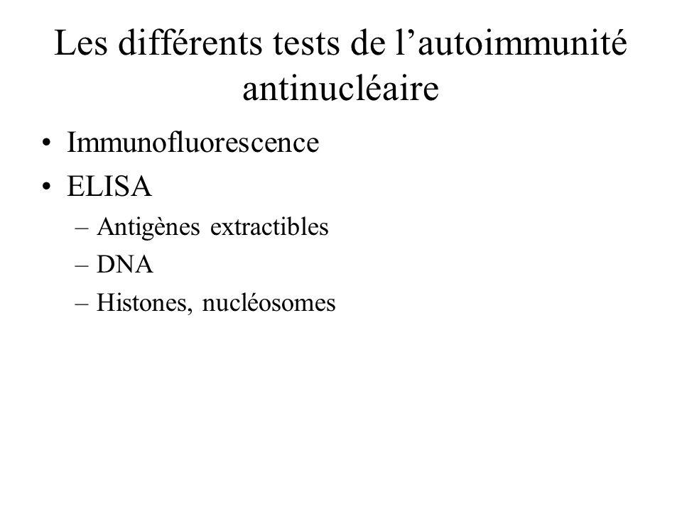 Les différents tests de l'autoimmunité antinucléaire