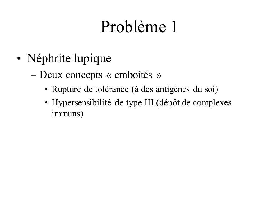 Problème 1 Néphrite lupique Deux concepts « emboîtés »