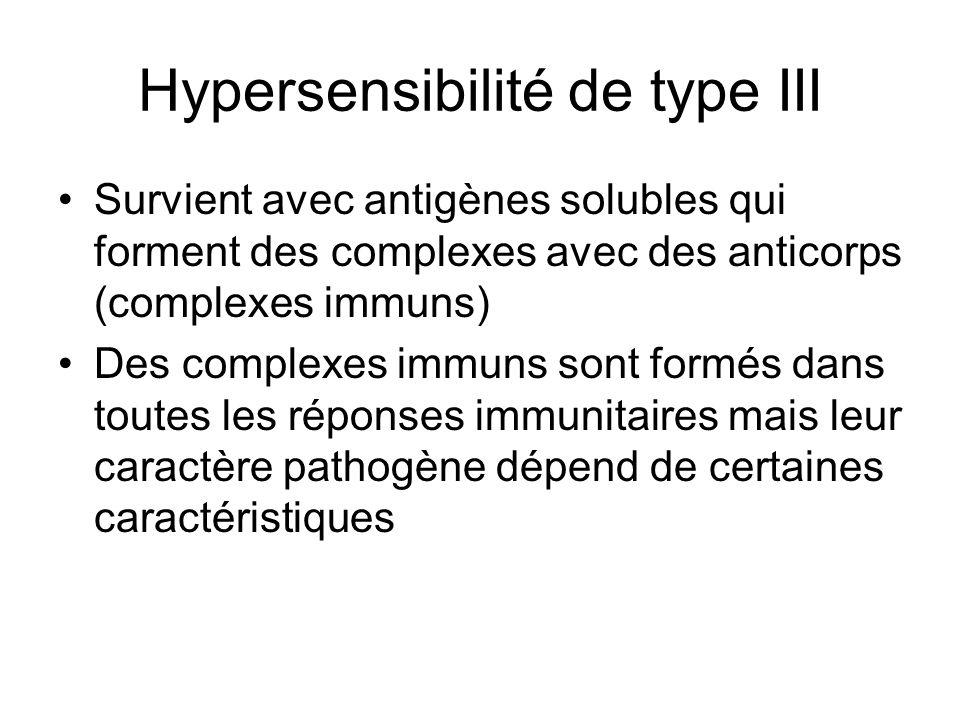 Hypersensibilité de type III
