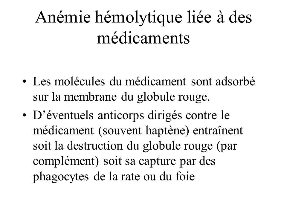 Anémie hémolytique liée à des médicaments