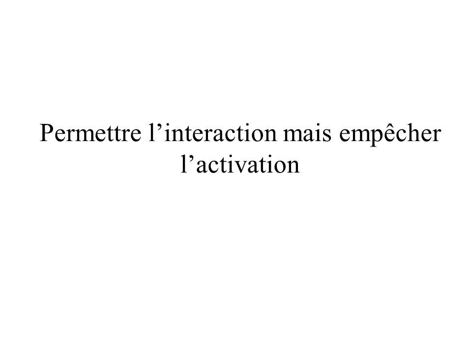 Permettre l'interaction mais empêcher l'activation