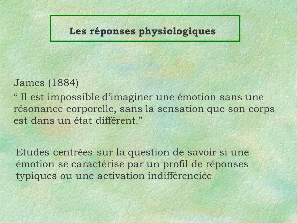 Les réponses physiologiques