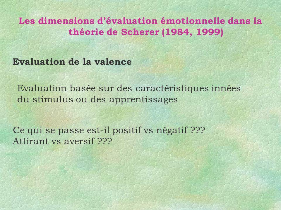 Evaluation de la valence