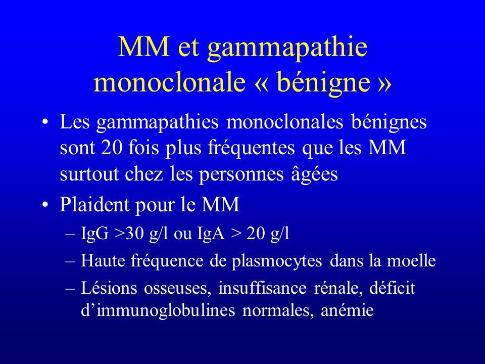 MM et gammapathie monoclonale « bénigne »