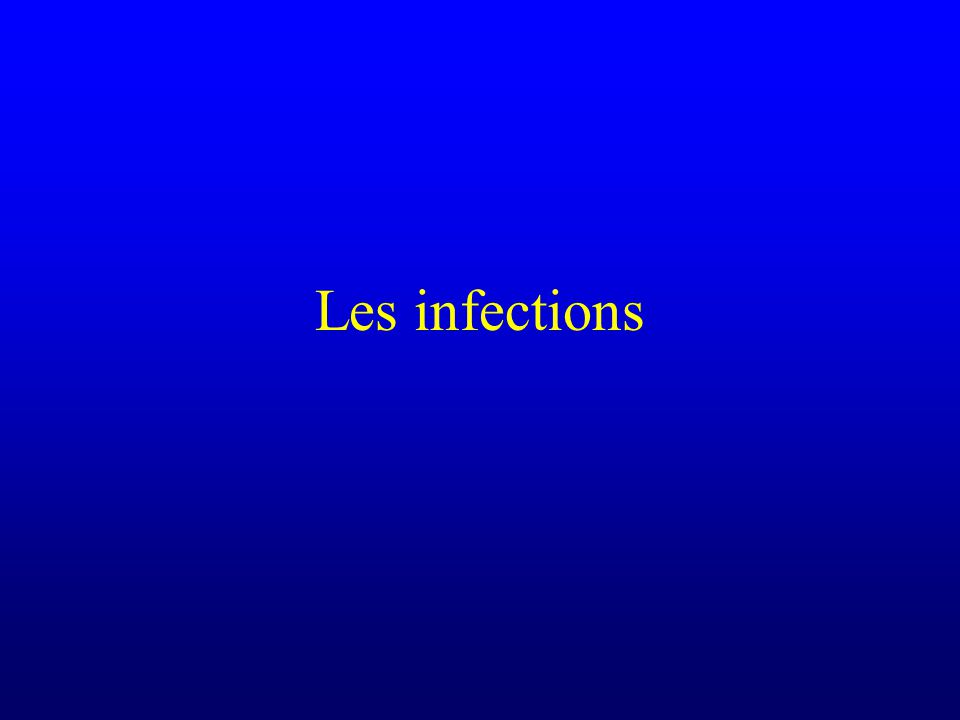 Les infections