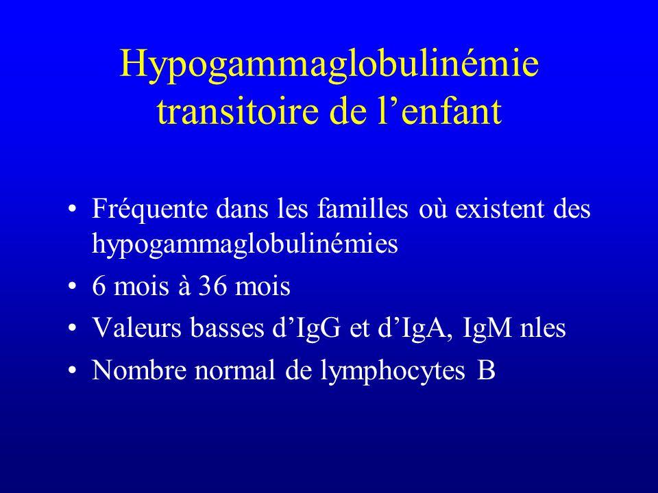 Hypogammaglobulinémie transitoire de l'enfant
