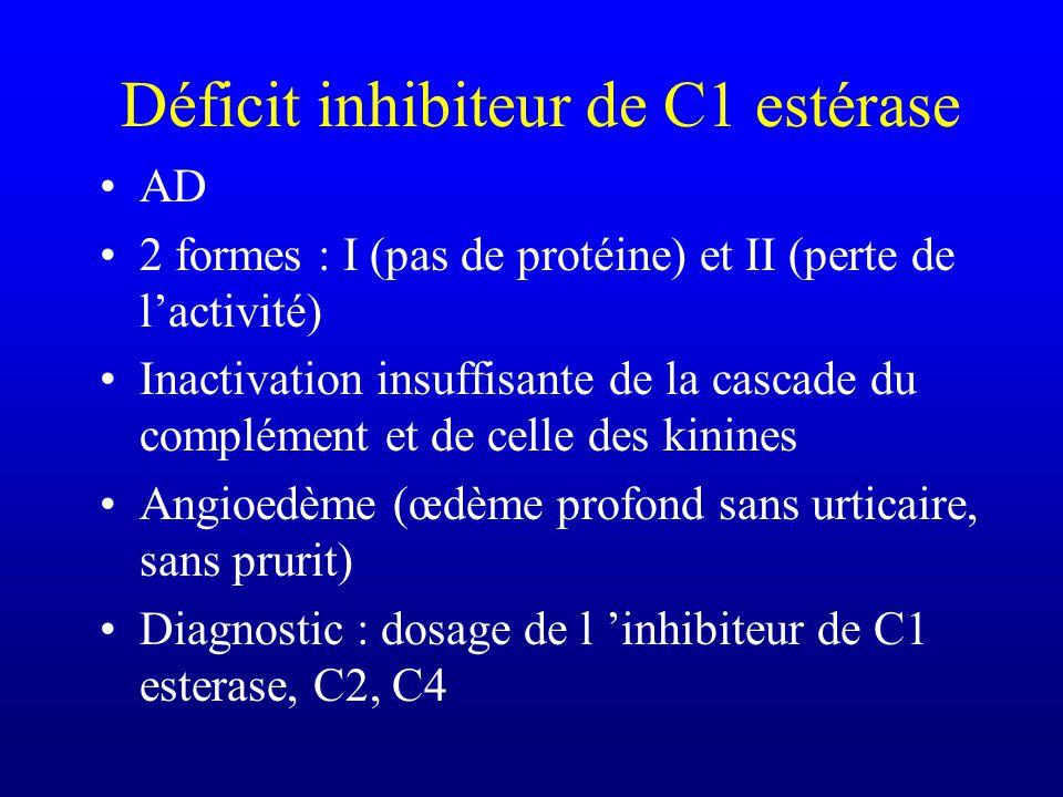 Déficit inhibiteur de C1 estérase