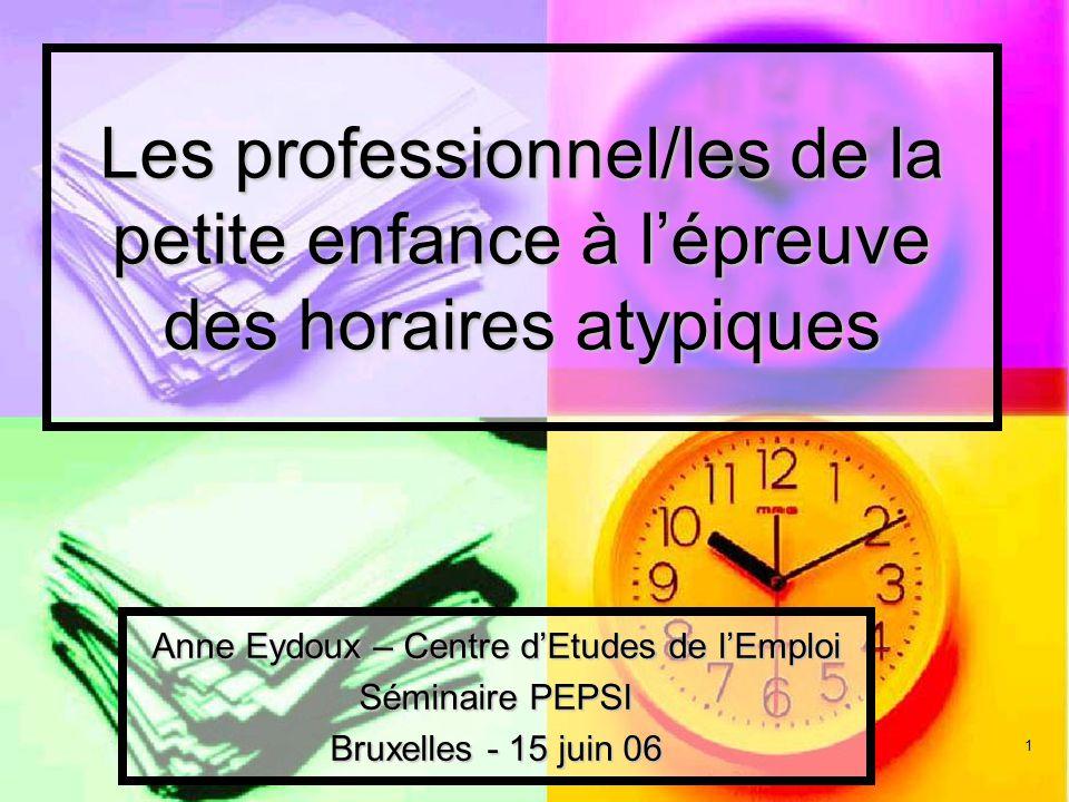 Anne Eydoux – Centre d'Etudes de l'Emploi