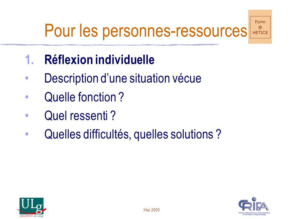 Pour les personnes-ressources