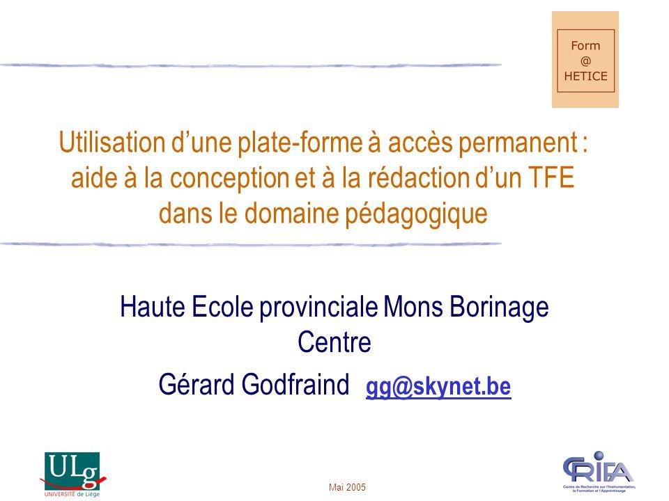 Haute Ecole provinciale Mons Borinage Centre