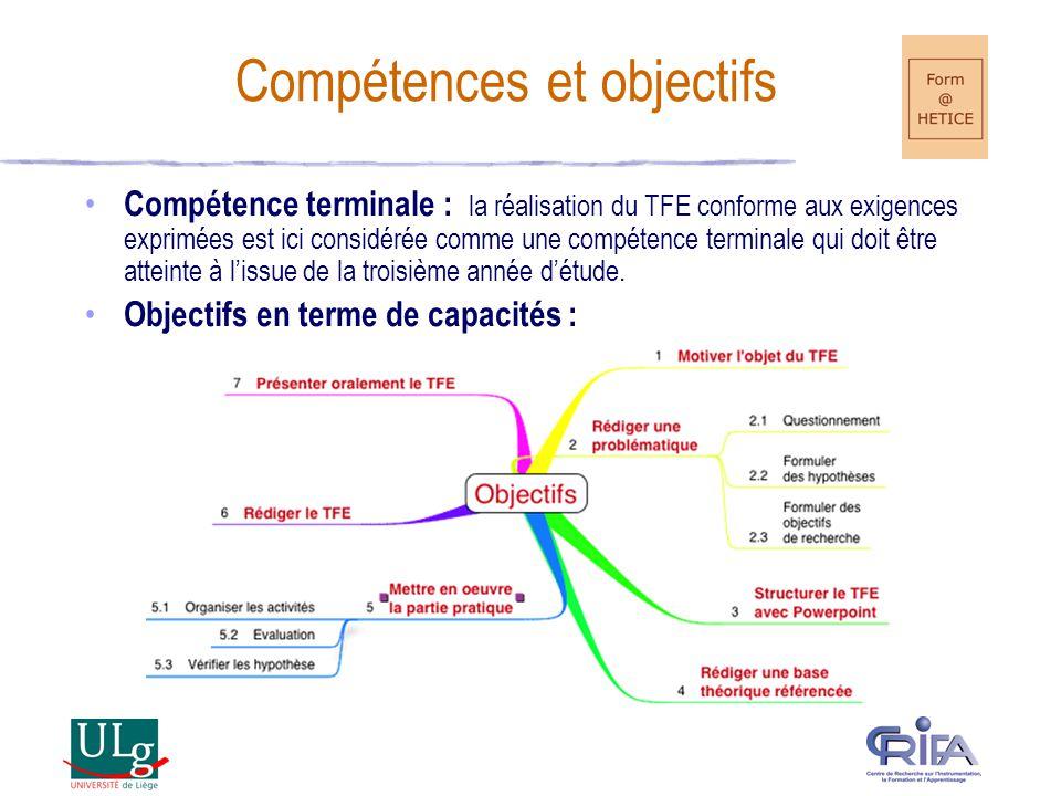 Compétences et objectifs
