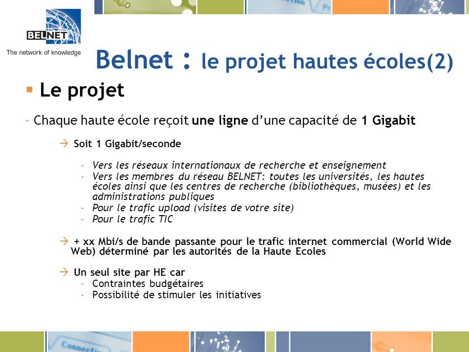 Belnet : le projet hautes écoles(2)