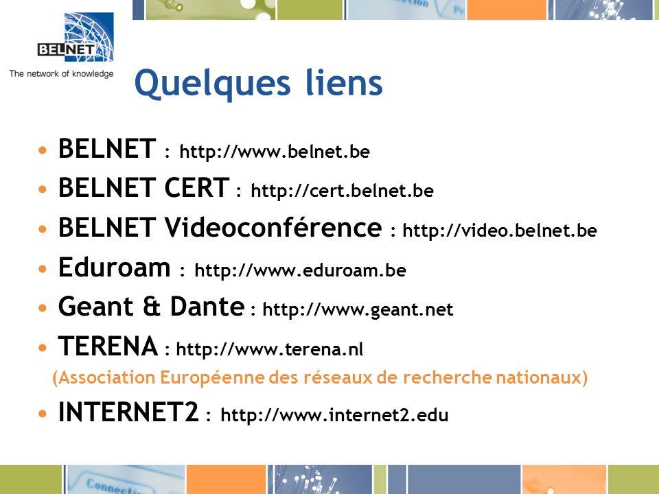 Quelques liens BELNET : http://www.belnet.be