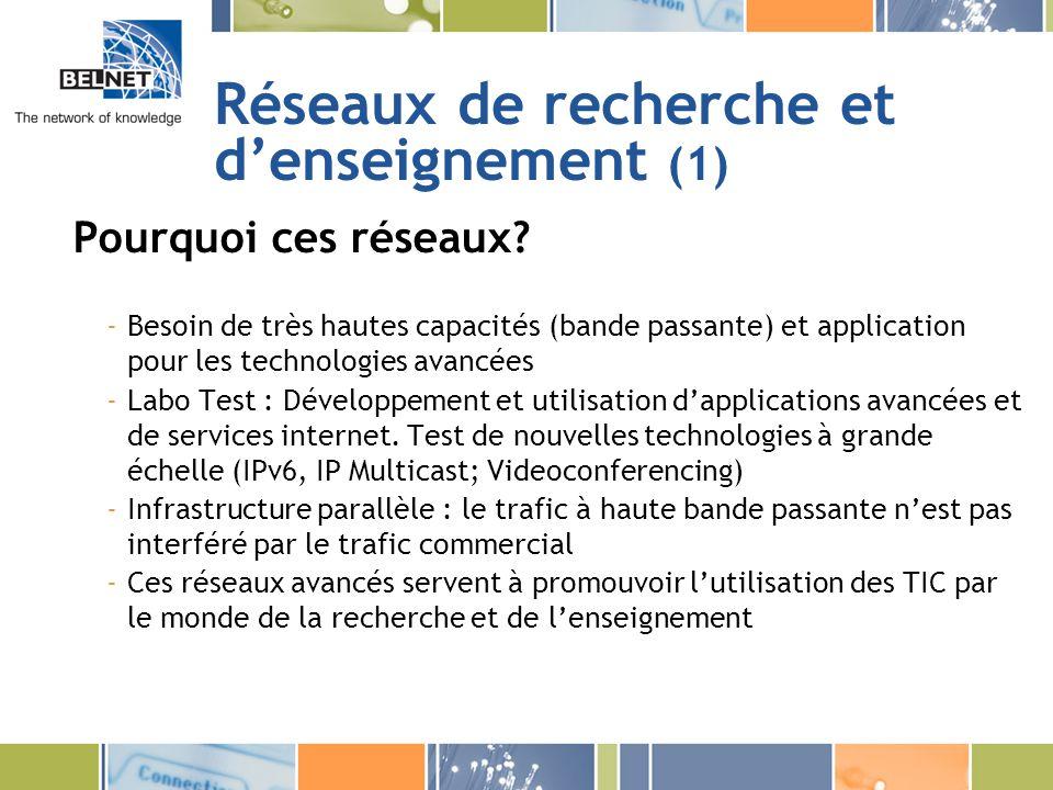 Réseaux de recherche et d'enseignement (1)