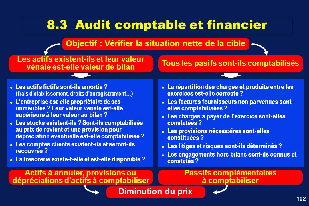 8.3 Audit comptable et financier